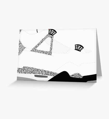 Made in China IV White/Cement Size US 9.5 - Pop Art, Sneaker Art, Minimal Greeting Card