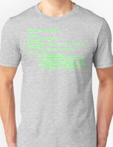 man happiness (white outline) T-Shirt