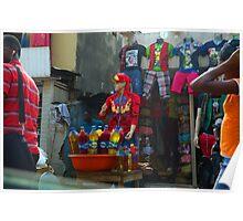 Street Shops Lagos Nigeria Poster