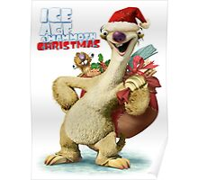 CHRISTMAS ICE AGE SID STYLE Poster