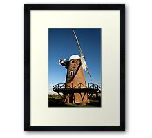 Wilton Windmill evening shadows 1 Framed Print