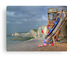 The Fishing Boat - Birling Gap - HDR Canvas Print