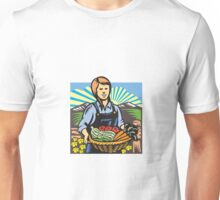 Organic Farmer Farm Produce Harvest Retro Unisex T-Shirt