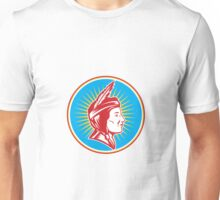 Native American Indian Squaw Woman Unisex T-Shirt