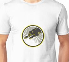Panther Big Cat Growling Circle Unisex T-Shirt