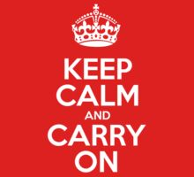 Keep Calm and Carry On - Red Leather One Piece - Long Sleeve
