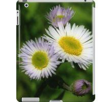 White Fleabane Daisy Flowers iPad Case/Skin