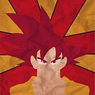 Super Saiyan God Goku by dragonballsuper