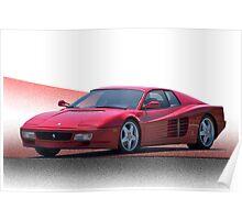 1987 Ferrari Testarossa   Poster