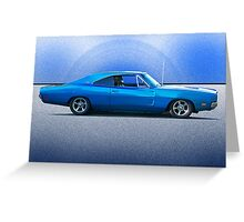 1969 Dodge Charger R/T 'Flex'n Muscle' Greeting Card