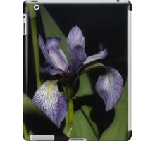 Intense Blue Flag Iris Flower iPad Case/Skin
