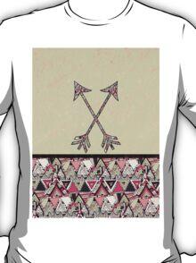 Retro Tribal Arrows Vintage Earth Aztec Pattern T-Shirt