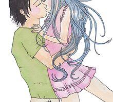 Anime Happy Couple by Toryfox