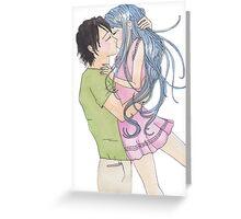 Anime Happy Couple Greeting Card