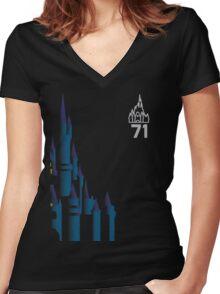 1971 - Magic Kingdom Women's Fitted V-Neck T-Shirt