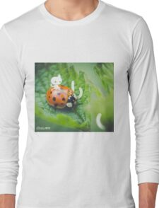 Riding the ladybug - Wandering forest 3 Long Sleeve T-Shirt
