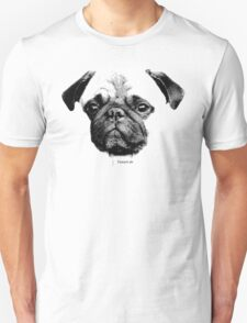 mops puppy white - french bulldog, cute, funny, dog Unisex T-Shirt