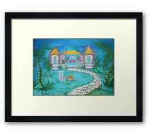 DREAM COTTAGE AT PEARLY BEACH Framed Print