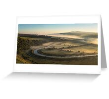 Daybreak - Cuckmere Valley Greeting Card