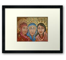 THREE WISE HUMANS Framed Print
