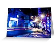 Saigon nights - cool Greeting Card