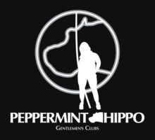 'Peppermint Hippo' Logo (white) by Sharknose
