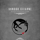 Sandor Clegane Personal Sigil iPhone Case by liquidsouldes