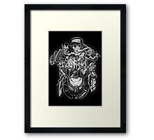 BELIEVE IN HEROES poster edition Framed Print