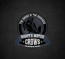 Night's Watch Crest iPhone Case by liquidsouldes