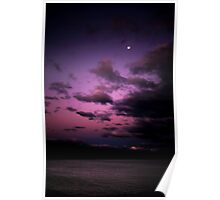 Moonrise Over Kianinny Clifftop  Poster