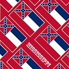 Iphone Case - State Flag of Mississippi - Diagonal II by Mark Podger