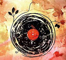 Enchanting Vinyl Records Grunge Art Print by Denis Marsili - DDTK