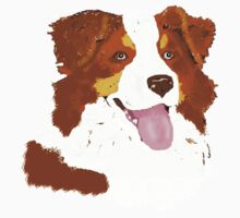 Red Tri Australian Shepherd Face Kids Clothes