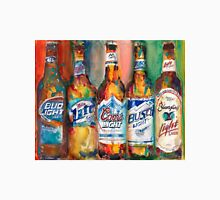 Bud light Miller Lite Coors Light Busch Light Yuengling Light Combo Beer Art Print Unisex T-Shirt