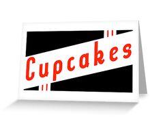 retro cupcakes Greeting Card