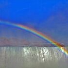 Rainbow Over Horseshoe Falls by Linda Long