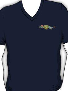 Hipster Liopleurodon Derposaur with Sweater and Ushanka logo shirt T-Shirt