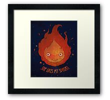 She Likes My Spark! Framed Print