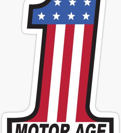 Motor Age American Flag 1 Sticker