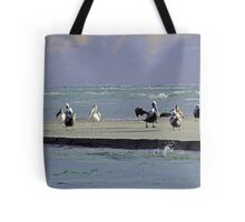 Pelicans & Seagulls Are Among Us in South Topsail, NC Tote Bag