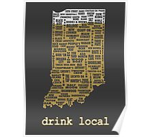 Drink Local - Indiana Beer Shirt Poster