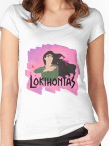 Lokihontas Women's Fitted Scoop T-Shirt