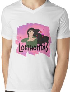 Lokihontas Mens V-Neck T-Shirt