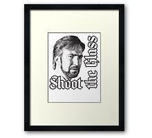 Shoot the Glass Framed Print