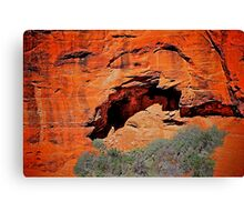 Shadows of time/Anasazi dwellings (from helicopter)  Canvas Print