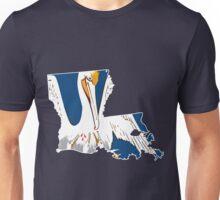 Louisiana Flag Outline [Wht]   SteezeFSC Unisex T-Shirt