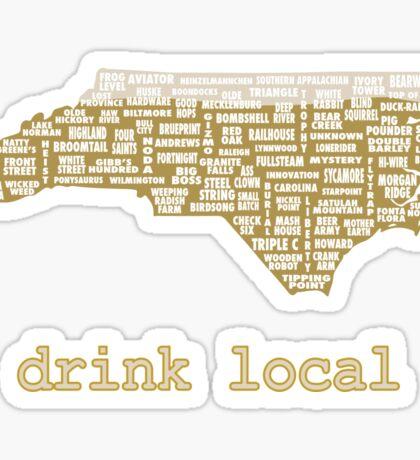 Drink Local - North Carolina Beer Shirt Sticker