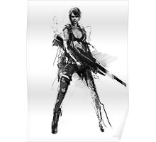 MGS5 Quiet - Black And White Poster