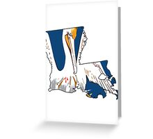Louisiana Flag Outline [Blk] | SteezeFSC Greeting Card