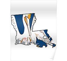 Louisiana Flag Outline [Blk] | SteezeFSC Poster